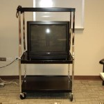 magnavox tv and stand