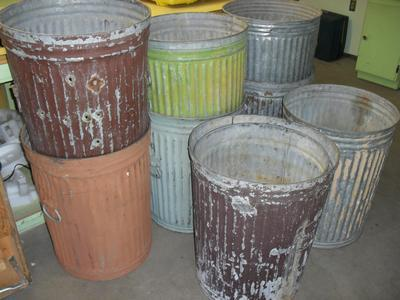 8 Large Trash Cans