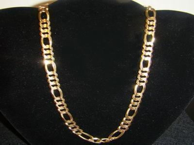 mens gold figaro chains