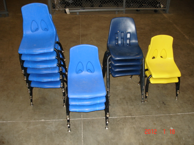 15 Plastic Childs Chairs