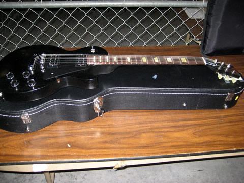 Black Les Paul With Case