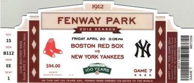 Fenway Park Season Tickets