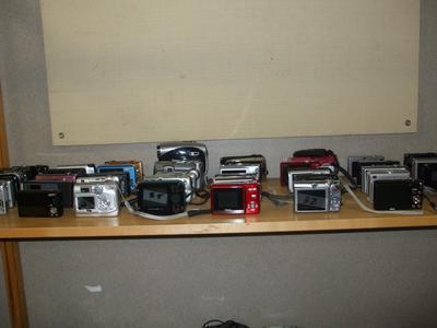assorted digital cameras
