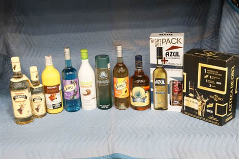 assorted alcohol