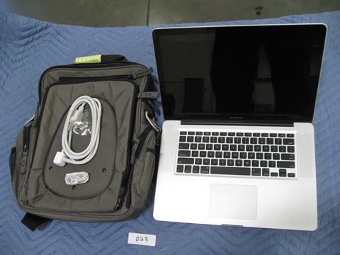 macbook with bag