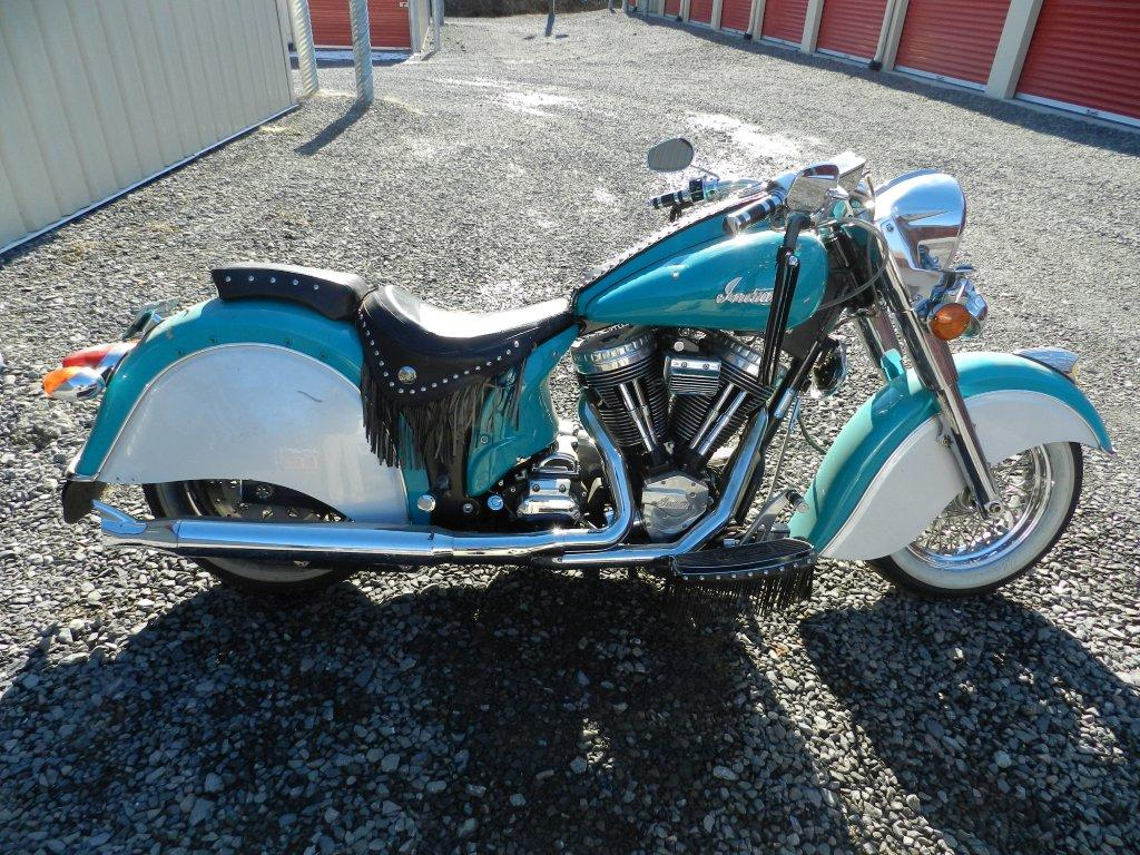 2005 Indian Chief Motorcycle The Worlds Fastest Teal