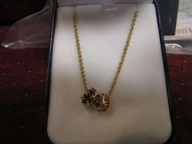 FBI Selling Yellow Gold Necklace With Pendants