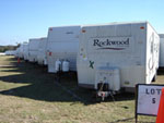 FEMA Trailer Lot featuring Rockwood Trailer
